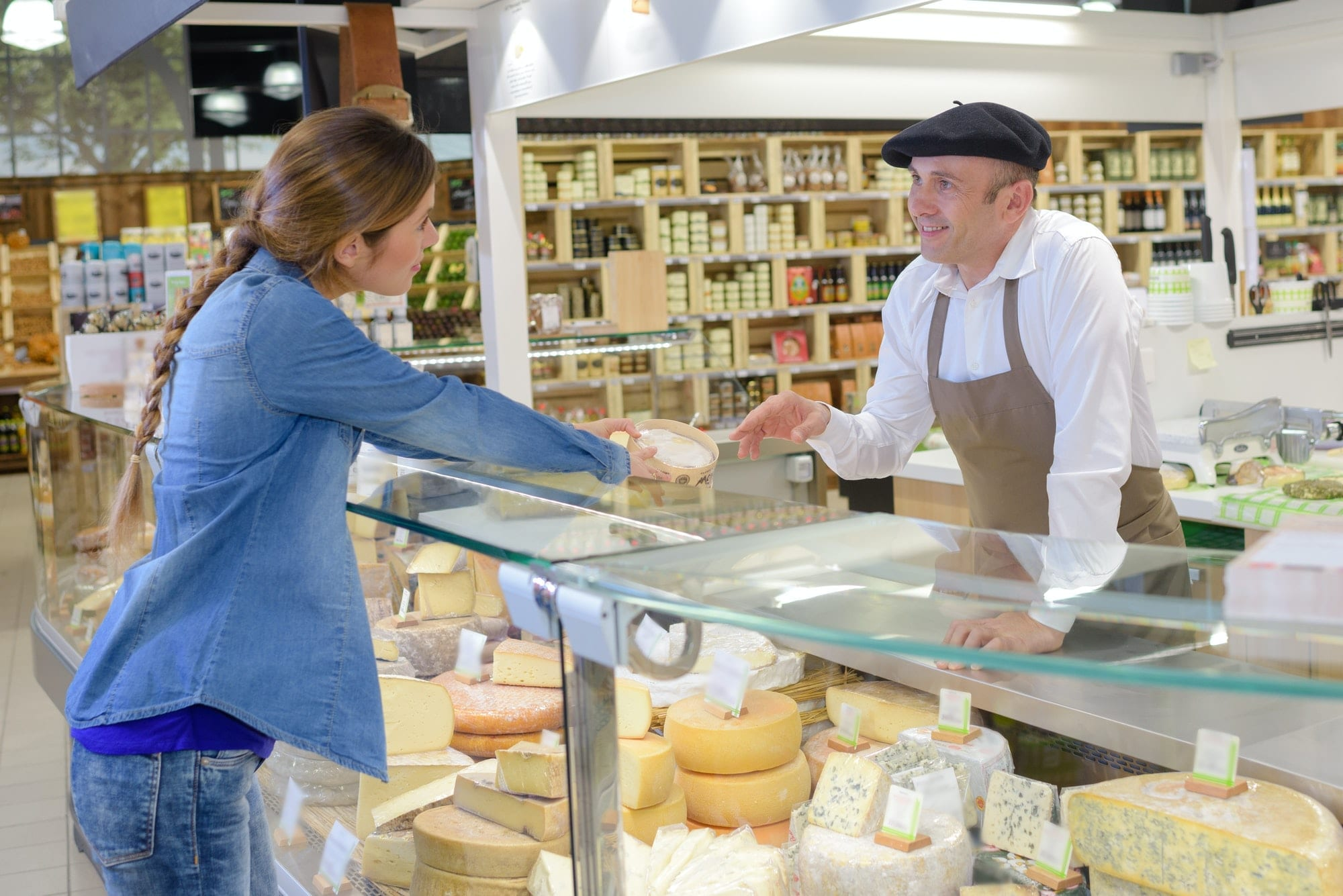 Service at the French cheese counter